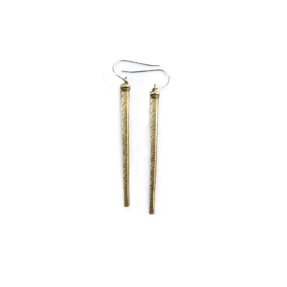 Square Nail Earrings