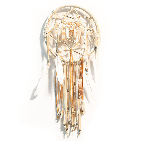 Mixed White Leather Dreamcatcher