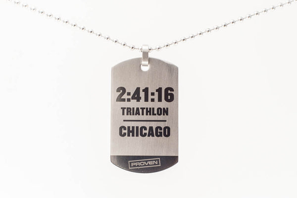 Triathlon Dog Tag (Customized)