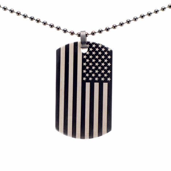 American Flag Dog Tag (Custom)