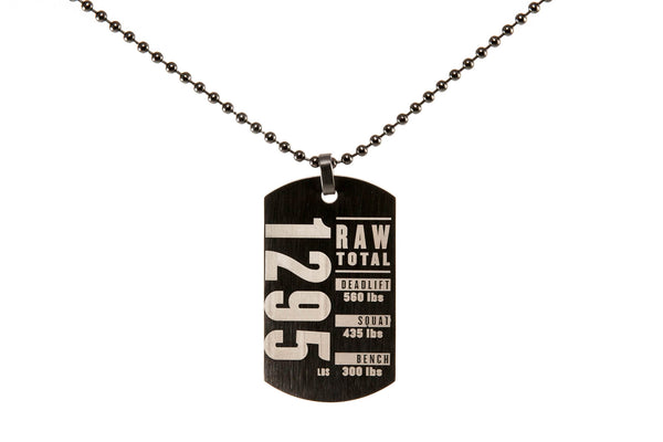Custom RAW TOTAL Dog Tag