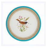Hand Painted Bird and Flowers Plate