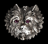 Antique Silver Dog