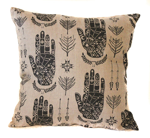 hand 16x16 pillow cover
