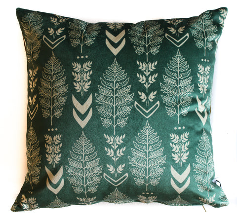 blue spring classic fern set of 2 pillow shams