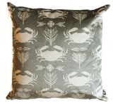 velvet coastal crab pillow sham