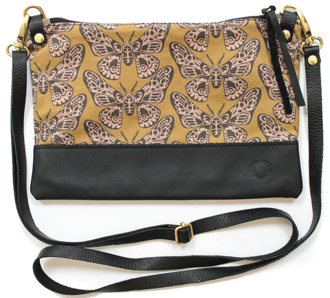 mustard birds townie cross body
