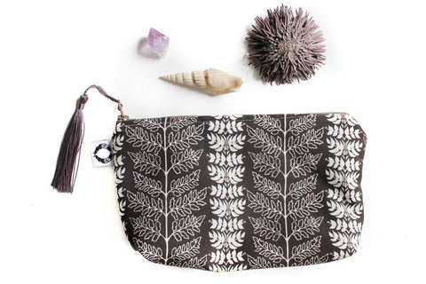 Small fern Zippy purse