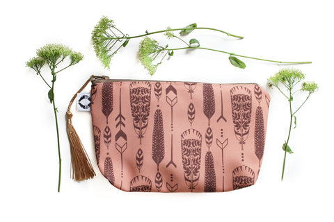 Small feathers Zippy purse