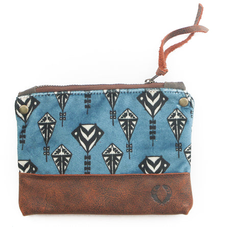 Blue Velvet Kite coin purse