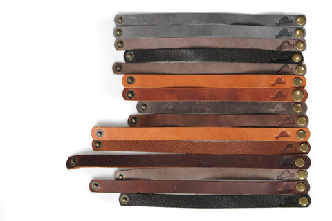 Flat leather Martha's Vineyard Embossed bracelets