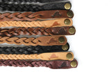 Braided Martha's Vineyard Embossed leather bracelets