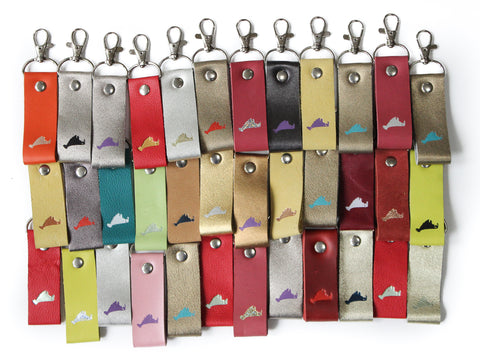 Set of 10 assorted Martha's Vineyard Embossed Key Fabs