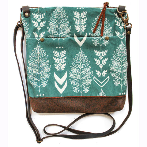 Blue velvet fern East Chop Bag