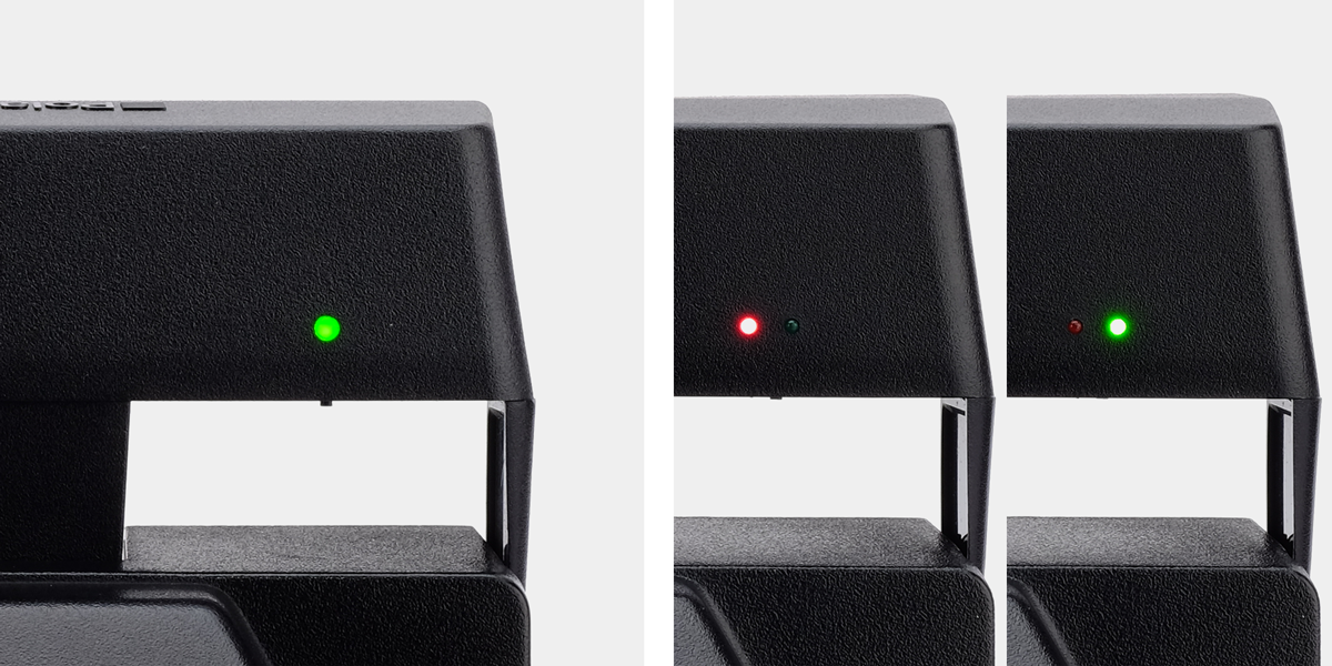 Polaroid charged flash LEDs
