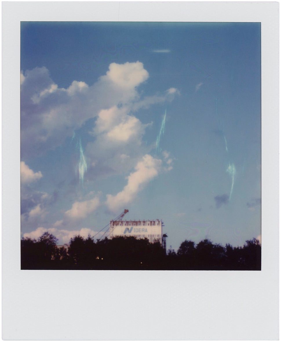 Polaroid with blue lightning