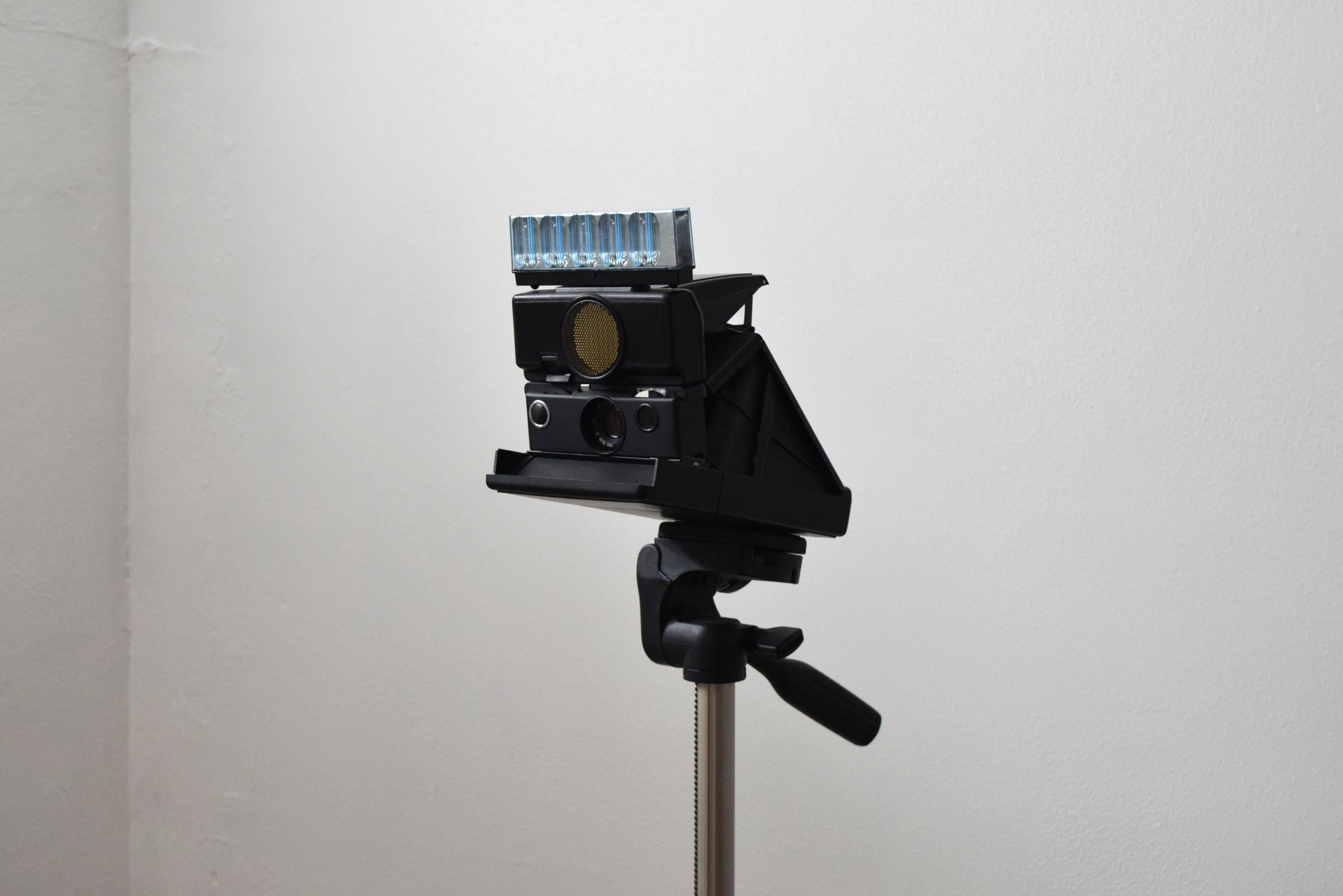 SX70 to 600 conversion camera with Flash and Tripod