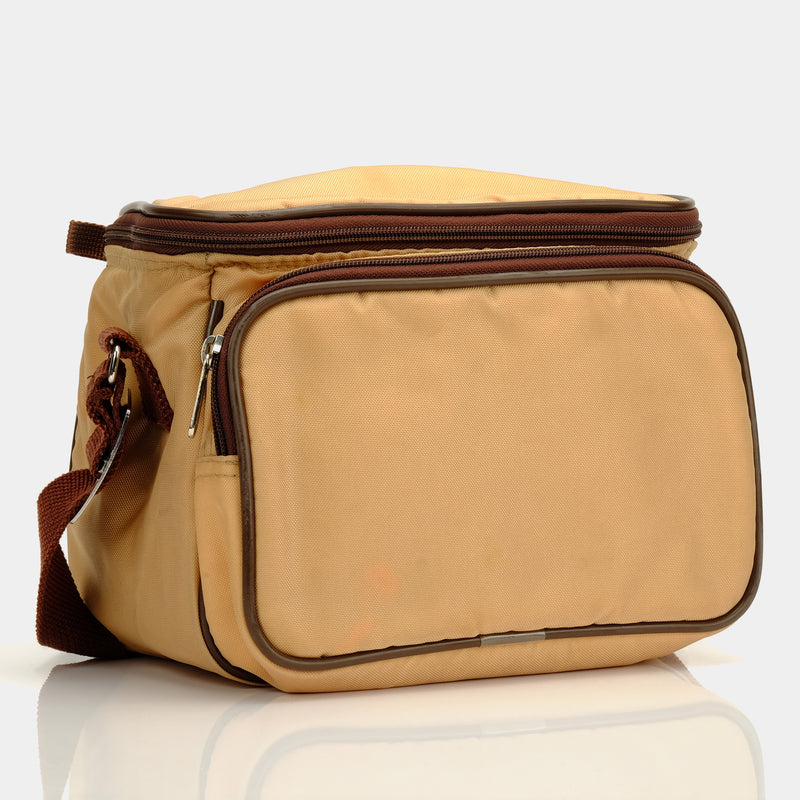 Retro Tan and Brown 600 Camera Bag