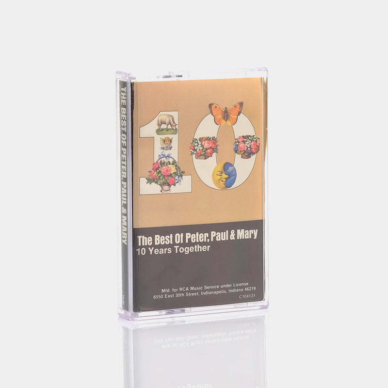Peter, Paul & Mary - The Best of Peter, Paul & Mary 10 Years Together (1970) Cassette Tape