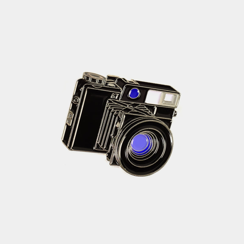 Medium Format Plaubel Makina 67 Camera Enamel Pin