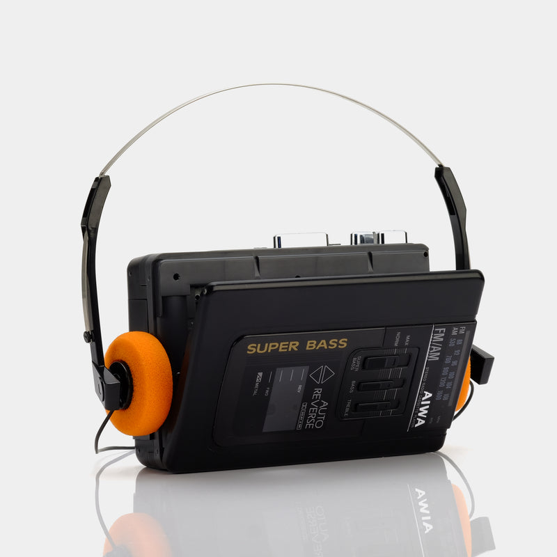 AIWA Super Bass AM/FM Portable Cassette Player