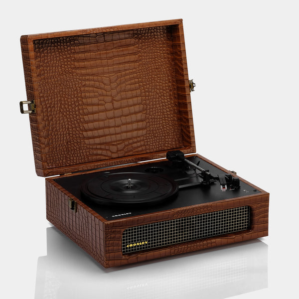 Crosley Voyager Brown Portable Turntable with Bluetooth