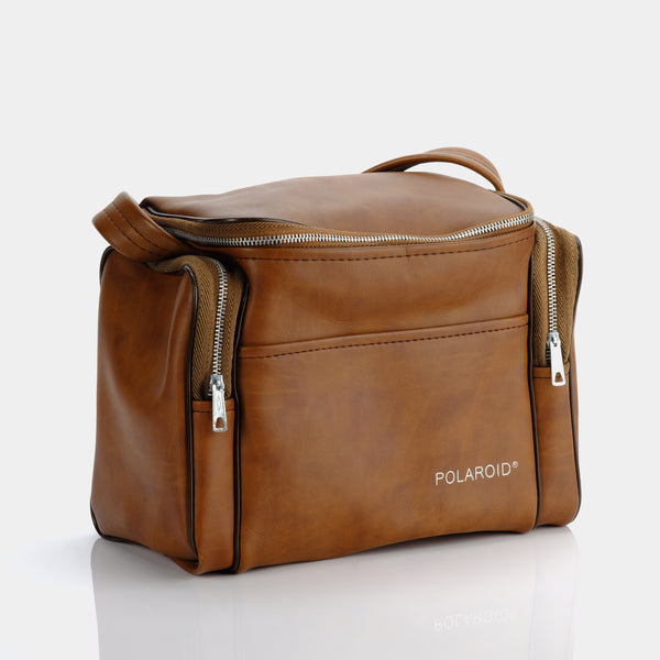Brown Faux Leather Polaroid Camera Bag