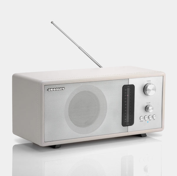 Crosley Harmony White FM Radio with Bluetooth