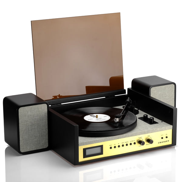 Crosley Coda Shelf System Turntable and Speakers