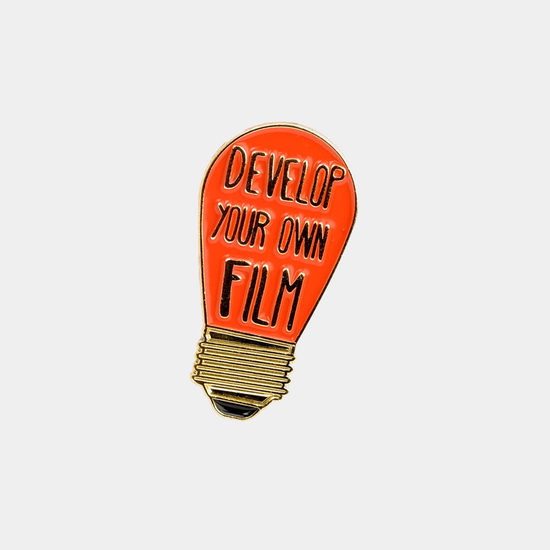 Develop Your Own Film Red Lightbulb Enamel Pin