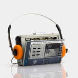 General Electric 3-5477A Auto Reverse AM/FM Portable Cassette Player