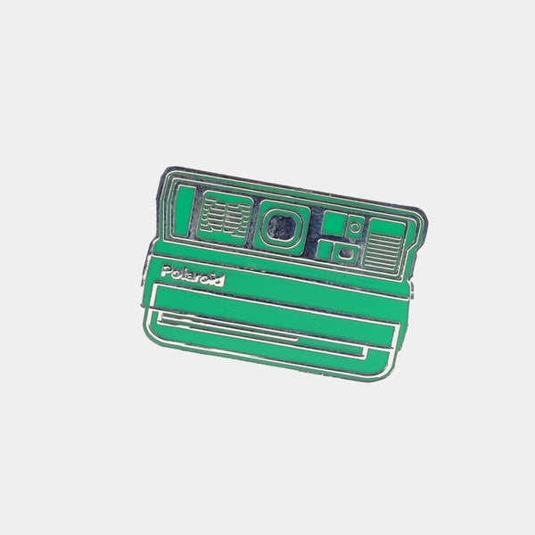 Green Spectra Polaroid Camera Enamel Pin