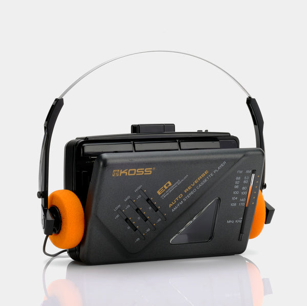Koss Auto Reverse AM/FM Stereo Portable Cassette Player
