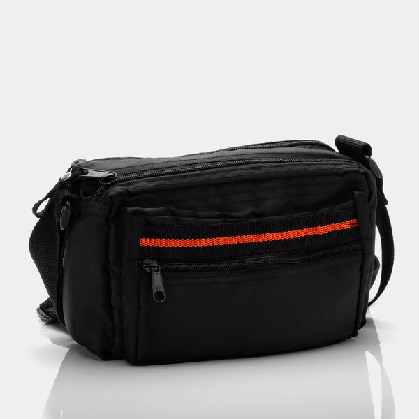 Black with Red Stripe Instant Camera Bag