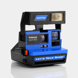 Polaroid 600 Norton Let's Talk Shop Spirit 600 Blue Instant Film Camera