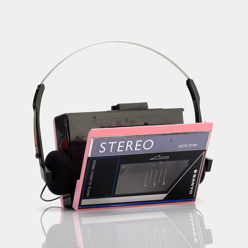 Sanyo Pink Portable Cassette Player