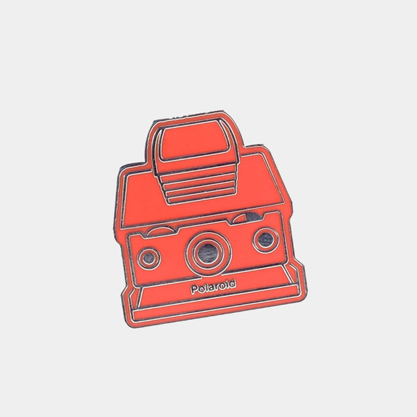 Red SX-70 Polaroid Camera Enamel Pin