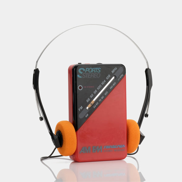 Soundesign Sports 2003RED AM/FM Portable Radio