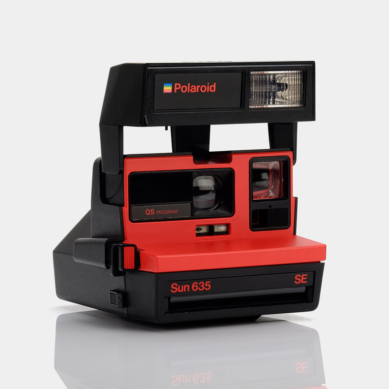 Polaroid 600 Sun635 SE Red Instant Film Camera