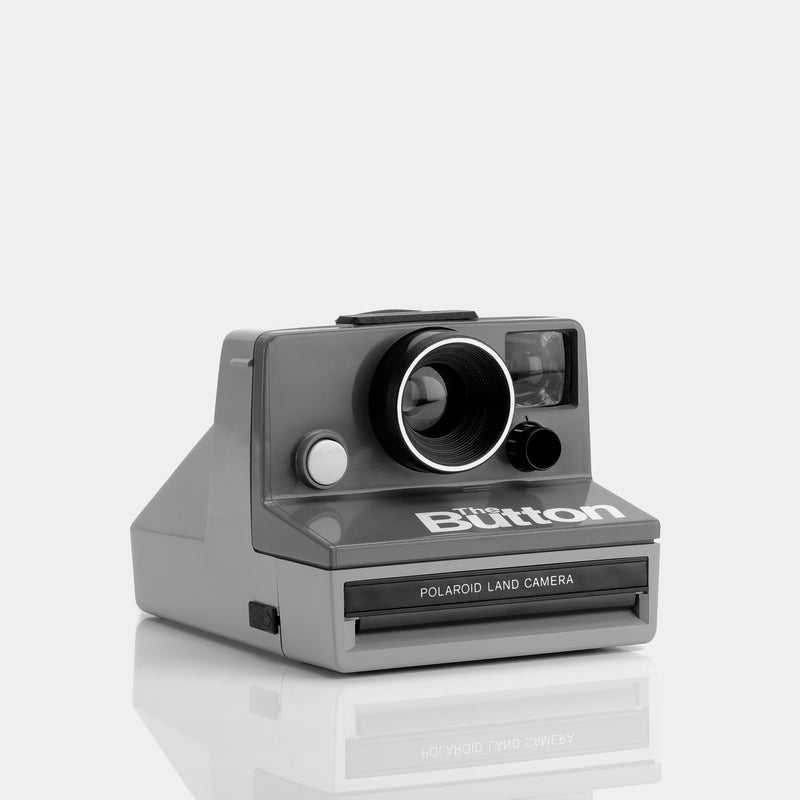 Polaroid SX-70 The Button Instant Film Camera With Flashbar