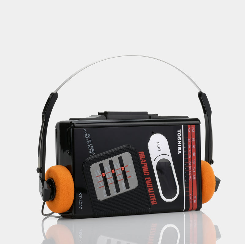 Toshiba KT-4027 AM/FM Stereo Portable Cassette Player