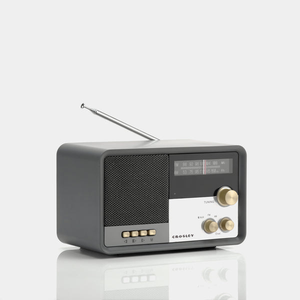 Crosley Tribute Charcoal AM/FM Radio with Bluetooth