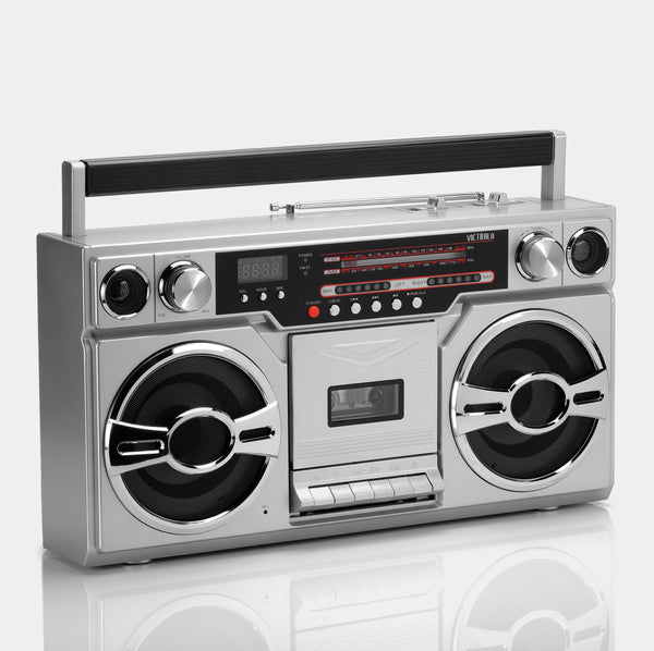 Victrola Bluetooth AM/FM Boombox Cassette Player