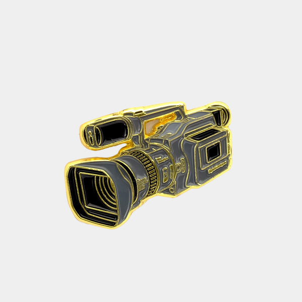 Video Camera Enamel Pin