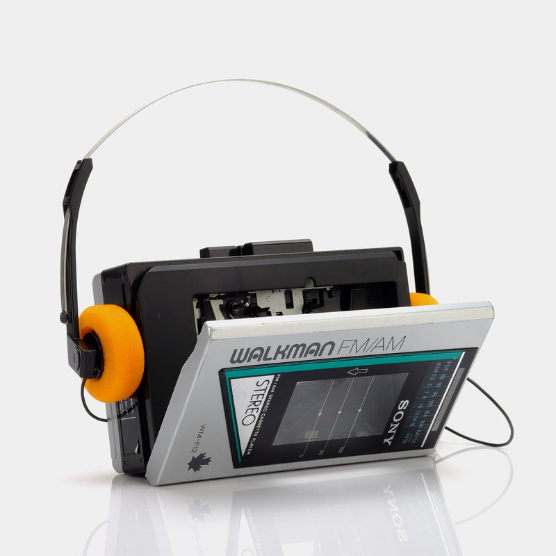 Sony Walkman WM-F12 Silver and Green Portable Cassette Player