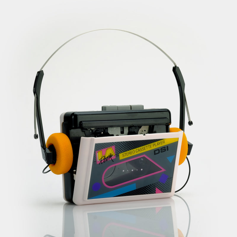 LA Rock Portable Stereo Cassette Player
