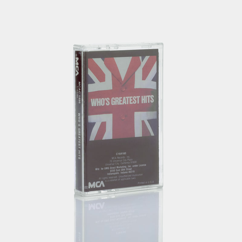 The Who - Who's Greatest Hits (1983) Cassette Tape