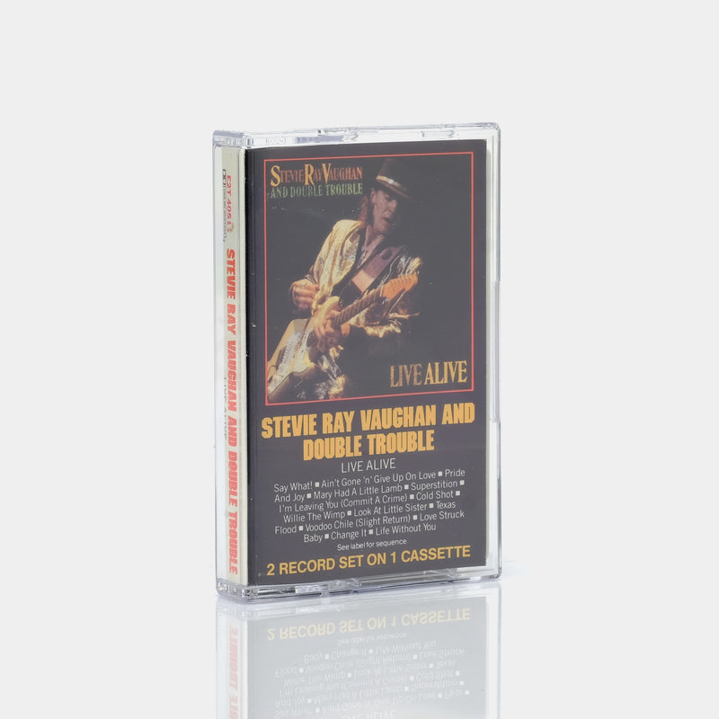 Stevie Ray Vaughan And Double Trouble - Live Alive (1986) Cassette Tape