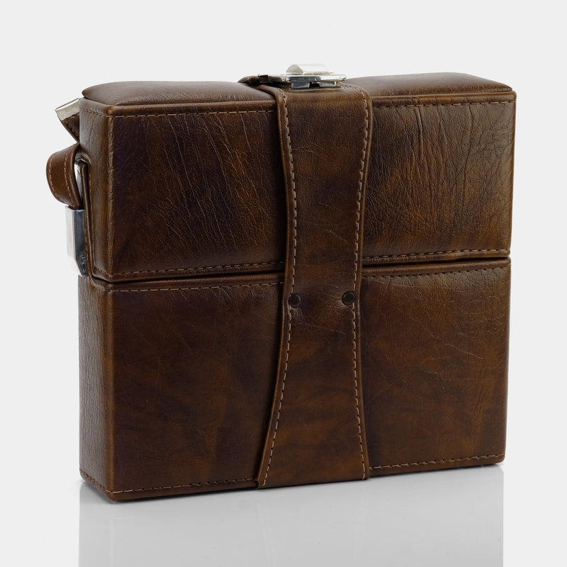 Brown Faux Leather Folding Instant Camera Case