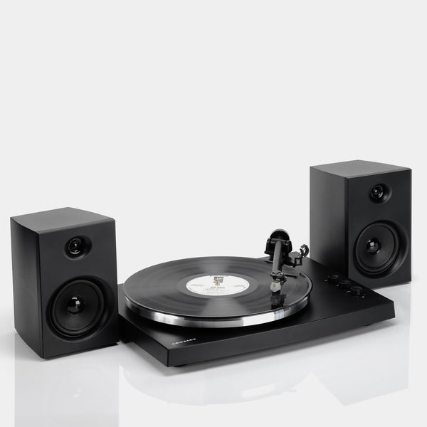 Crosley T150 Turntable and Speakers - Black